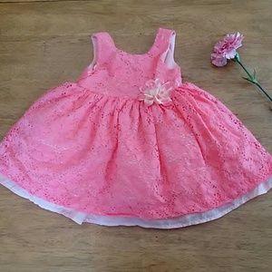 Pink/Peach Flower Dress